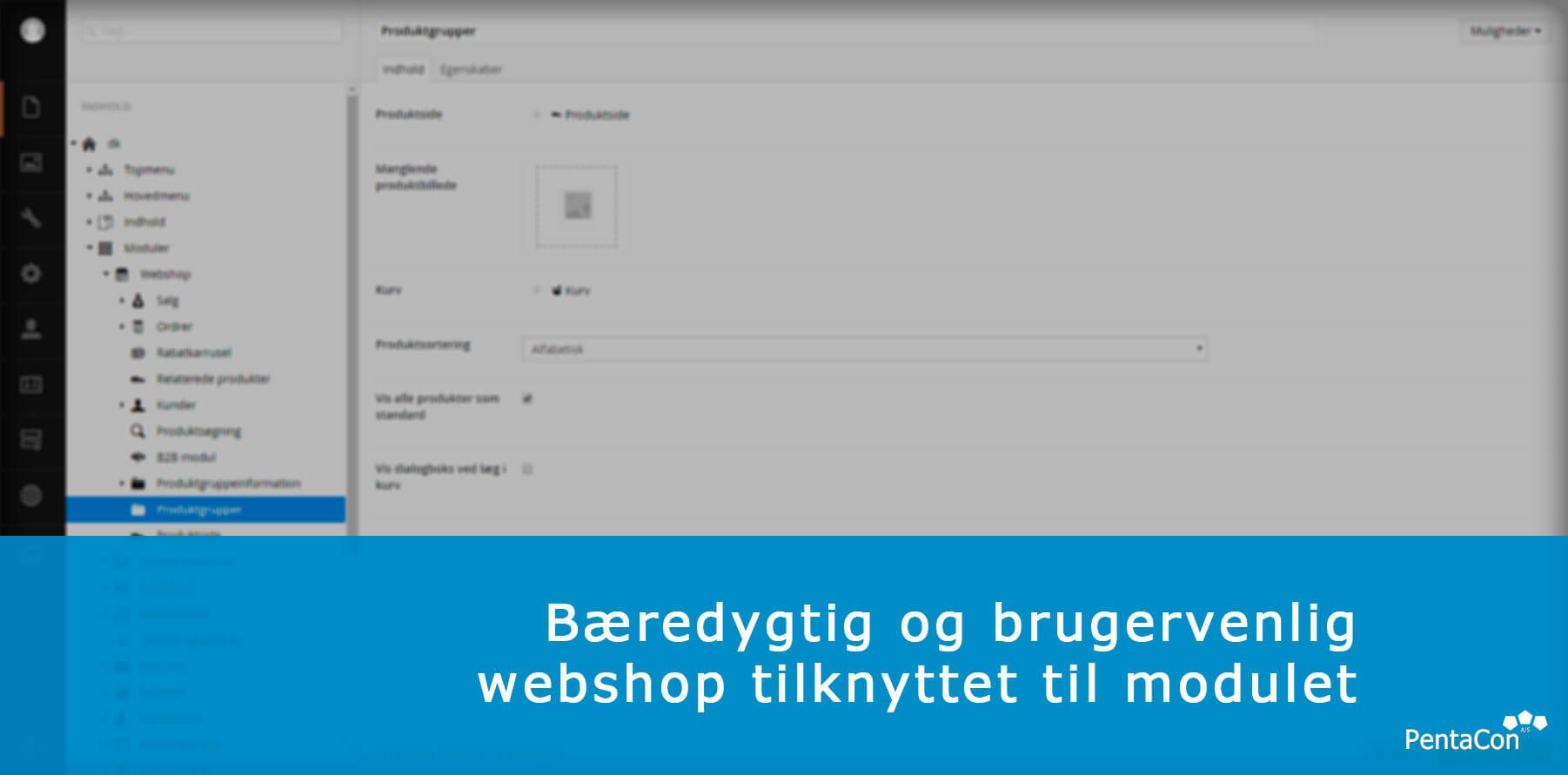 Billede af webshop produktgrupper