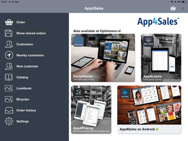 Screenshot App4Sales