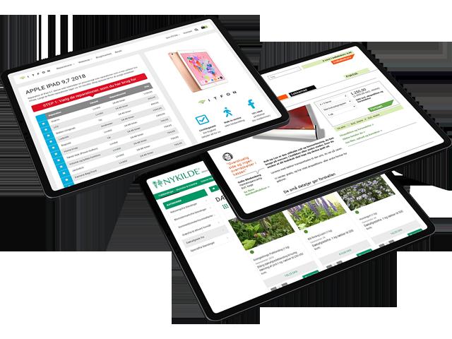 Eksempler på integrerede webshops