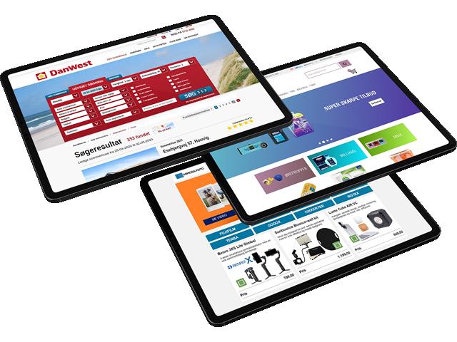 Eksempler på webshops med Uniconta integration
